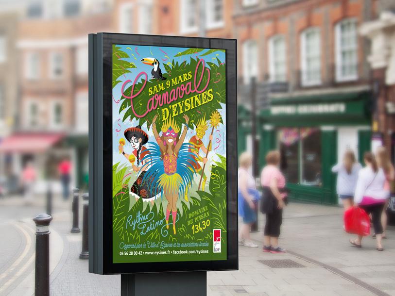 carnaval eysines 2019 - affiche 120x176