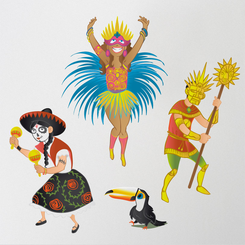 carnaval eysines 2019 - personnages couleurs
