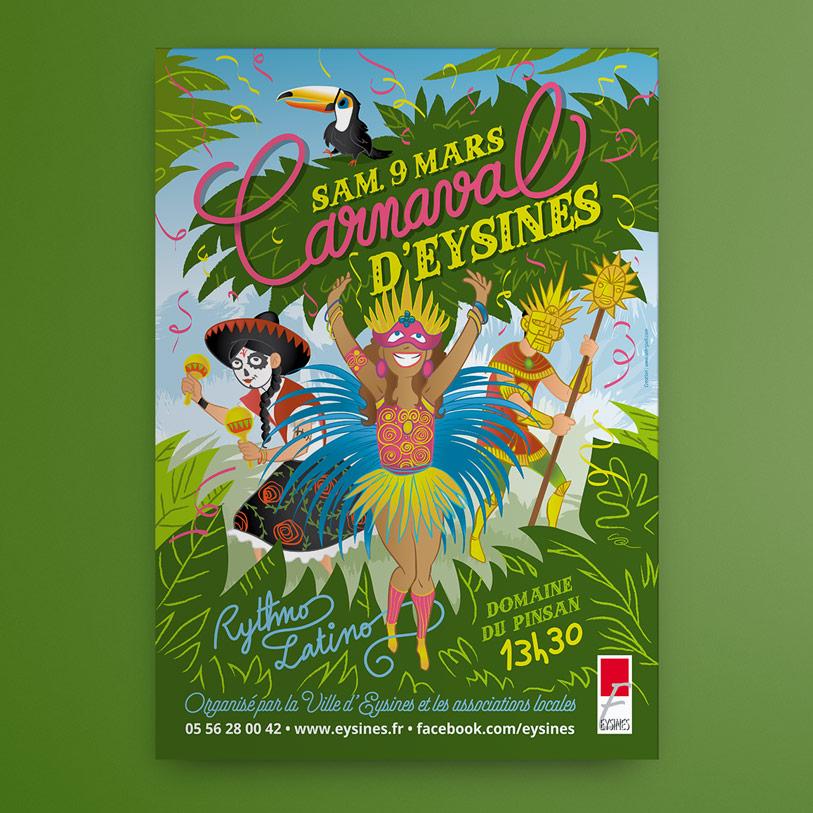 carnaval eysines 2019 - affiche