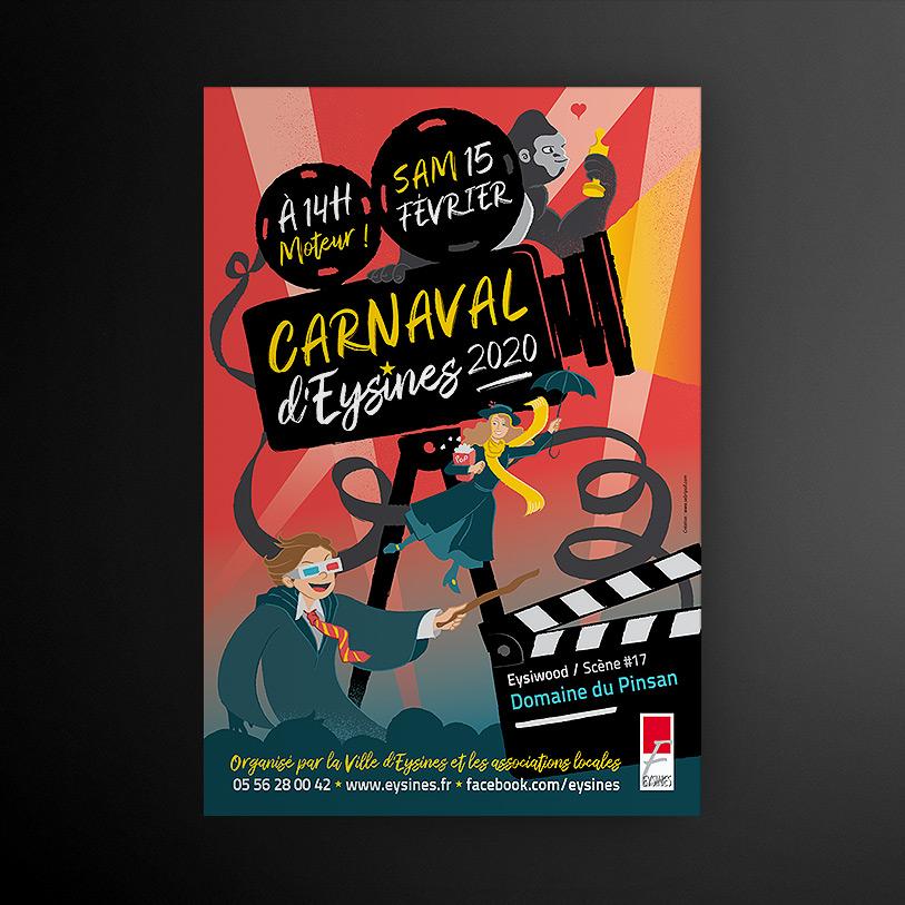 carnaval eysines 2020 - visuel affiche